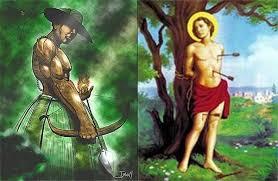 """20 de janeiro é """"Dia de São Sebastião"""" sincretizado com Oxóssi, patrono da linha de caboclos"""